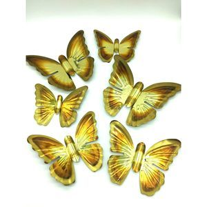 Other - Vintage Brass Butterfly Wall Art